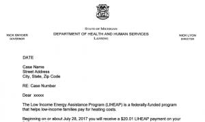 LIHEAP Letter