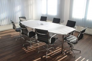 board meeting conference table and chairs